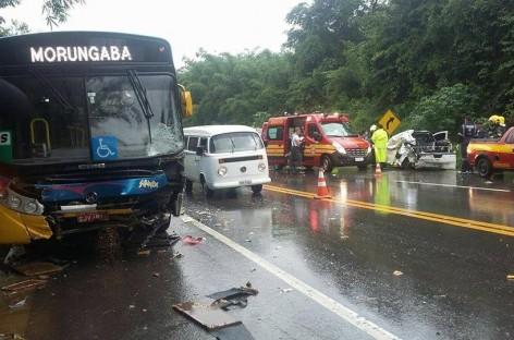 Acidente entre ônibus e pick-up deixa dois mortos na Itatiba – Morungaba