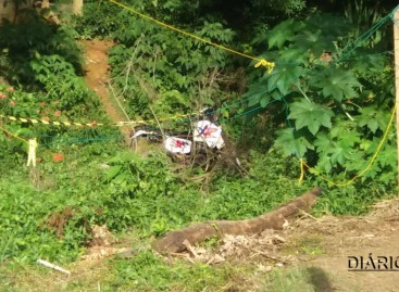 Motocicleta de suspeito de assassinato de PM é encontrada no Bairro Erasmo Chrispim
