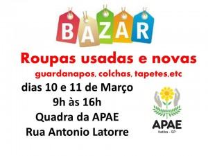 bazar APAE 10 e 11marco