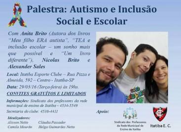 Palestra sobre autismo será realizada no Itatiba Esporte Clube nesta terça-feira