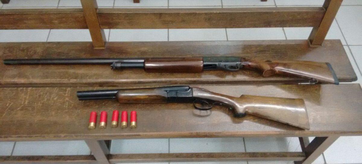 PM prende homem com porte ilegal de armas no Jardim Galetto