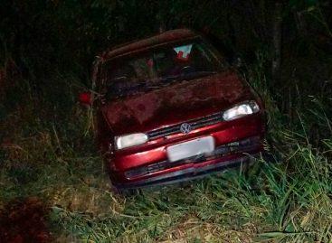 Motorista perde o controle da direção e capota carro na Itatiba – Morungaba