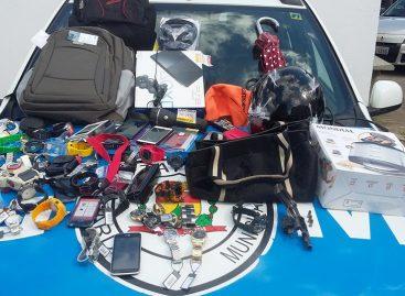 Dupla é capturada pela GM de Itatiba após roubo em Morungaba