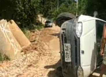 Obras atrasadas provocam acidente no Terras de São Sebastião