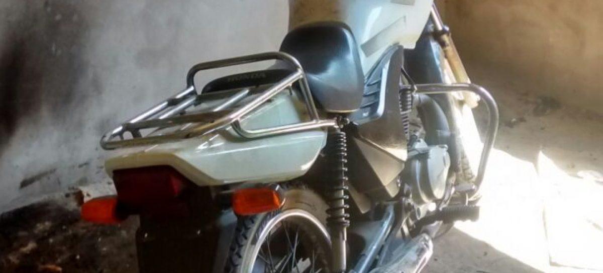 GM encontra moto furtada em construção no Bairro Pedro Fumachi