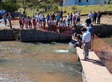 Ribeirão Jacaré recebe 7,2 mil peixes
