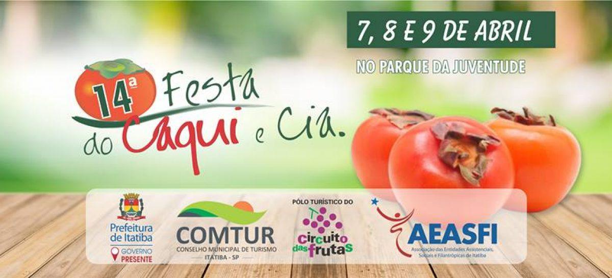 14ª Festa do Caqui terá curso de culinária. Vagas são limitadas