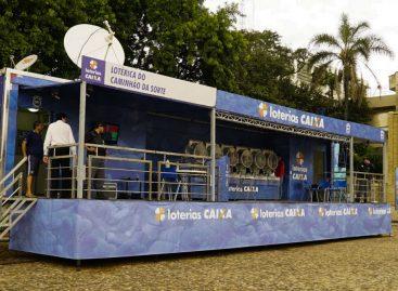 Caminhão da Sorte está em Itatiba para os sorteios das loterias da Caixa