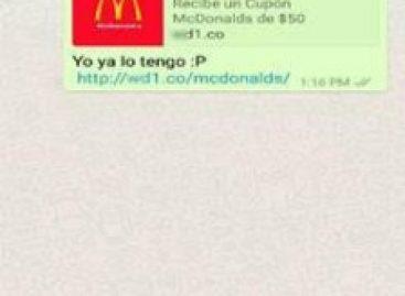 Golpe no WhatsApp oferece cupom falso do McDonald's para roubar dados de usuários