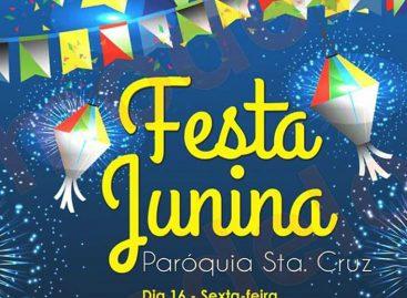 Final de semana tem festa junina na Paróquia de Santa Cruz