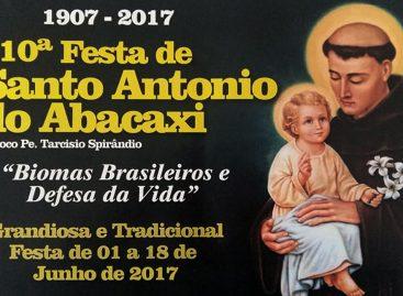 Confira a programação da 110ª Festa de Santo Antonio do Abacaxi