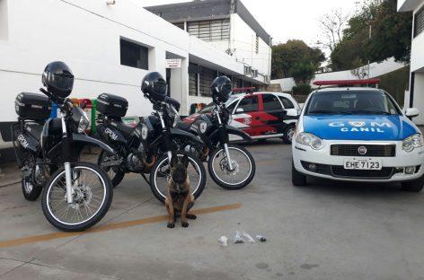 Canil da GM faz primeira apreensão de drogas em Itatiba
