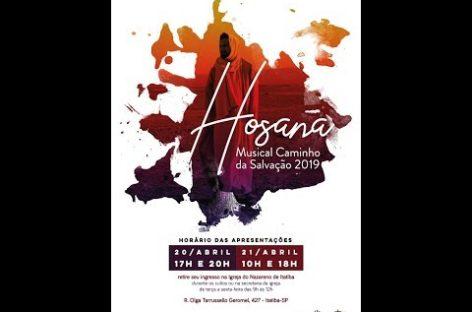 Igreja do Nazareno realiza Musical neste fim de semana