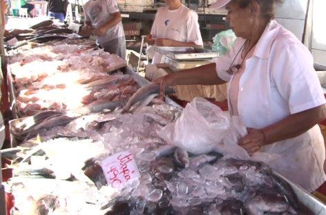 Semana Santa: Várias pessoas foram à feira na manhã desta quinta em busca de peixes