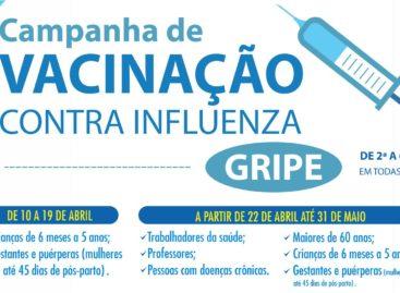 Segunda fase da campanha de vacinação contra a gripe já começou