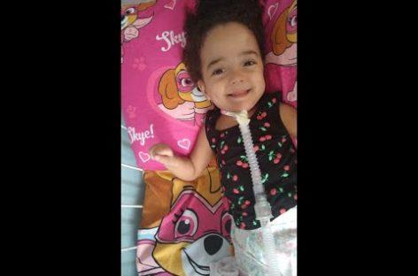 Família faz campanha para tratamento de garotinha com doença rara
