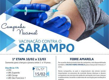 Teve início a Campanha Nacional de Vacinação Contra o Sarampo