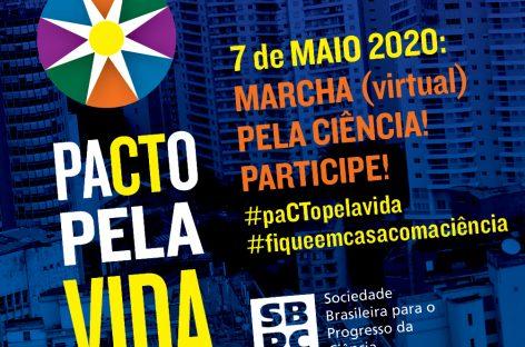 Marcha Virtual pela Ciência acontece nesta quinta-feira